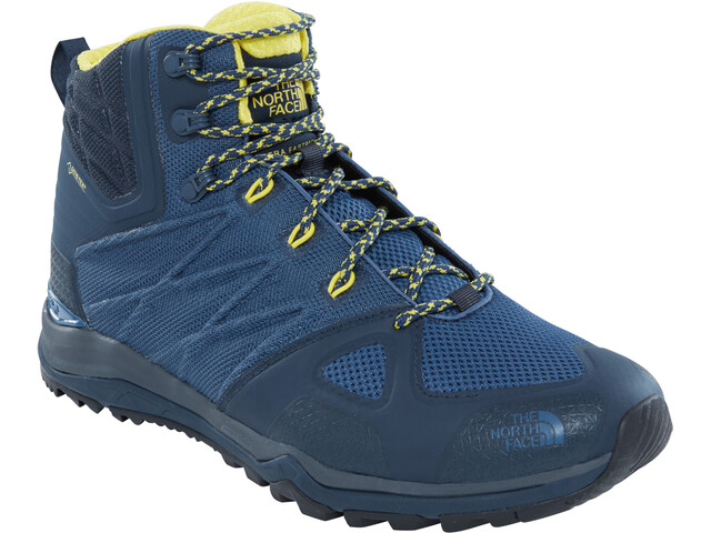 The North Face M's Ultra FP II MD GTX Hiking Boots Shady Blue/Acid yellow